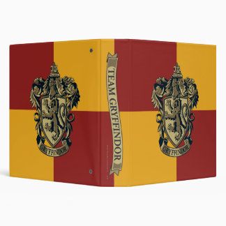 Harry Potter | Gryffindor Crest Gold and Red 3 Ring Binders