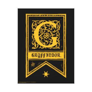 Harry Potter | Gryffindor Monogram Banner Canvas Print