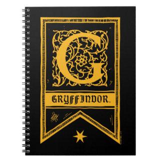 Harry Potter | Gryffindor Monogram Banner Notebook