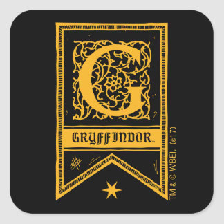 Harry Potter | Gryffindor Monogram Banner Square Sticker