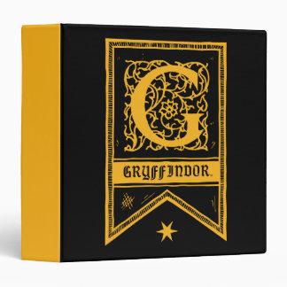 Harry Potter | Gryffindor Monogram Banner Vinyl Binders