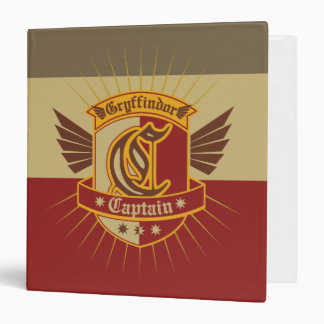 Harry Potter | Gryffindor QUIDDITCH� Captain Emble 3 Ring Binders