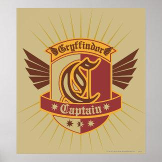 Harry Potter | Gryffindor QUIDDITCH� Captain Emble Poster