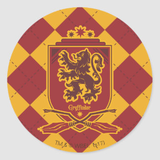 Harry Potter | Gryffindor QUIDDITCH™  Crest Classic Round Sticker