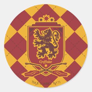 Harry Potter   Gryffindor Quidditch Crest Round Sticker