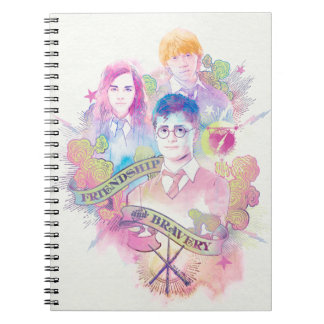 Harry Potter | Harry, Hermione, & Ron Watercolor Spiral Notebooks