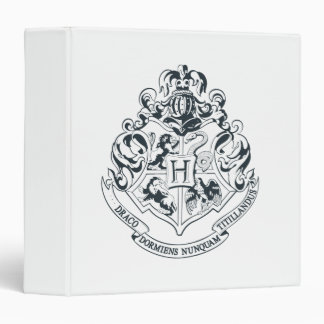 Harry Potter | Hogwarts Crest - Black and White 3 Ring Binders
