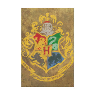 Harry Potter | Hogwarts Crest - Black and White Canvas Print