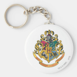 Harry Potter | Hogwarts Crest - Full Color Basic Round Button Keychain