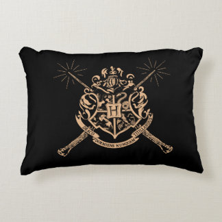 Harry Potter | Hogwarts Crossed Wands Crest Accent Pillow