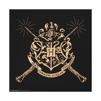Harry Potter | Hogwarts Crossed Wands Crest Canvas Print