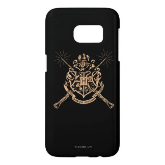 Harry Potter | Hogwarts Crossed Wands Crest Samsung Galaxy S7 Case