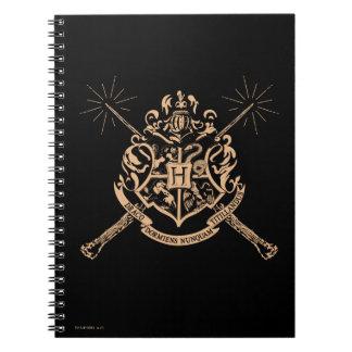 Harry Potter | Hogwarts Crossed Wands Crest Spiral Notebook