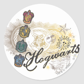 Harry Potter | Hogwarts Houses - Full Color Round Sticker