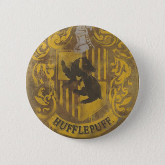 Harry Potter | Hufflepuff Crest Spray Paint 2 Inch Round Button