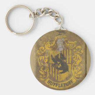 Harry Potter | Hufflepuff Crest Spray Paint Keychain