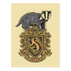 Harry Potter   Hufflepuff Crest with Badger Postcard