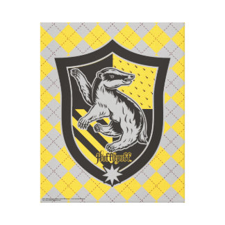 Harry Potter | Hufflepuff House Pride Crest Canvas Print