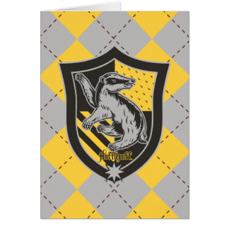 Harry Potter | Hufflepuff House Pride Crest Card