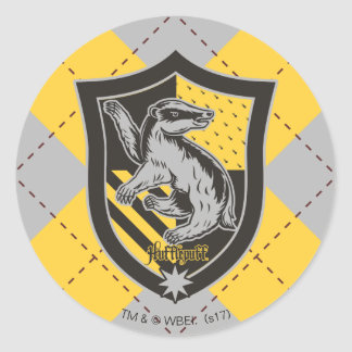 Harry Potter | Hufflepuff House Pride Crest Classic Round Sticker