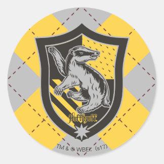 Harry Potter | Hufflepuff House Pride Crest Round Sticker
