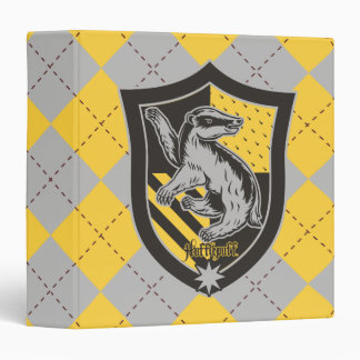 Harry Potter | Hufflepuff House Pride Crest Vinyl Binder