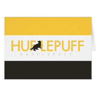 Harry Potter | Hufflepuff House Pride Logo Card