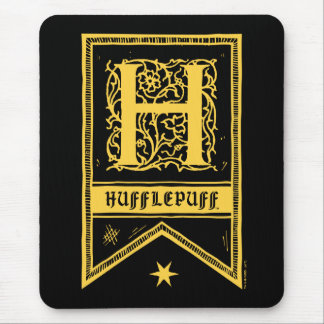 Harry Potter | Hufflepuff Monogram Banner Mouse Pad