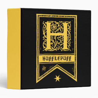 Harry Potter | Hufflepuff Monogram Banner Vinyl Binder