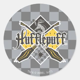 Harry Potter | Hufflepuff Quidditch Crest Round Sticker