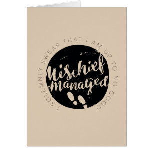 Harry potter greeting cards greeting card templates zazzle ca harry potter marauders map charms typography card bookmarktalkfo Image collections