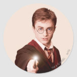 Harry Potter Points Wand Round Stickers