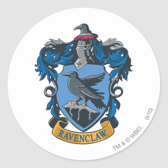 Harry Potter   Ravenclaw Coat of Arms Classic Round Sticker