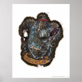 Harry Potter | Ravenclaw Crest - Destroyed Poster