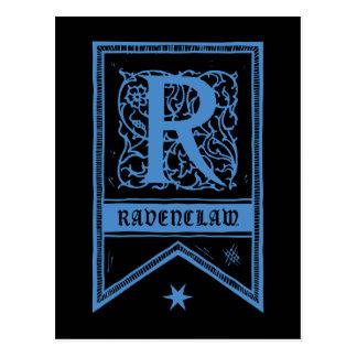 Harry Potter | Ravenclaw Monogram Banner Postcard