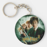 Harry Potter Ron Hermione Dobby Group Shot Basic Round Button Keychain
