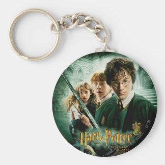 Harry Potter Ron Hermione Dobby Group Shot Basic Round Button Keychain
