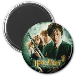 Harry Potter Ron Hermione Dobby Group Shot Magnet