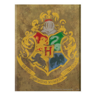 Harry Potter | Rustic Hogwarts Crest Postcard