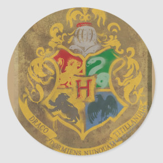 Harry Potter | Rustic Hogwarts Crest Round Sticker