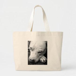 harry potter scar dog white pit bull large tote bag