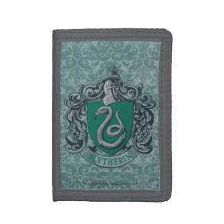 Harry Potter | Slytherin Crest Green Trifold Wallets