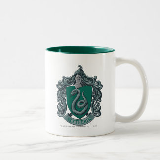 Harry Potter | Slytherin Crest Green Two-Tone Coffee Mug