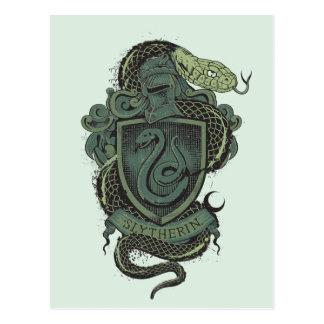 Harry Potter    Slytherin Crest Postcard