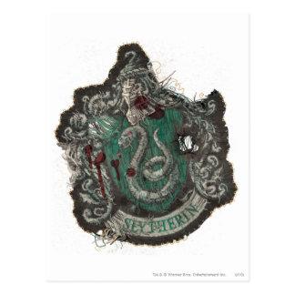 Harry Potter   Slytherin Crest - Vintage Postcard