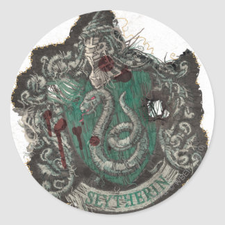 Harry Potter | Slytherin Crest - Vintage Round Sticker