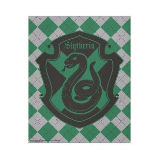 Harry Potter | Slytherin House Pride Crest Canvas Print