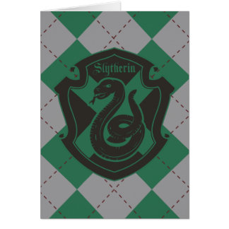 Harry Potter | Slytherin House Pride Crest Card