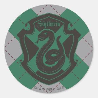 Harry Potter | Slytherin House Pride Crest Classic Round Sticker