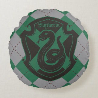 Harry Potter | Slytherin House Pride Crest Round Pillow